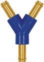 Riegler Y-Schlauchverbindungsstutzen, für Schlauch LW 4, Messing und POM - 133414