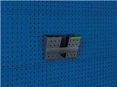 Bott Dokumentenhalter DIN A4 quer Ku.B340xT100xH231mm f.Lochplatten 5St./Btl. - 1401402919