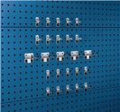 Bott Werkzeughaltersortiment 25-Tlg.Verz.F.Lochplatten 15 Hak./10 Klemmen - 14030210