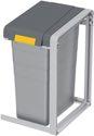 Hailo Wertstoffsammler 35L H570Xb350Xt415mm Telegrau Staubgrau Erweiterungs-Eh - 0935-302