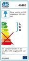 as-Schwabe 46403 Chip-LED-Strahler 30 W auf Stativ, IP 65 Baustrahler für Aussen und Baustelle, blau (EEK: A)