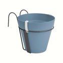 ELHO Loft Urban Balcony Potholder Ø20xH19,8cm - vintage blau/anthrazit - 430238