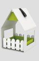 EMSA Landhaus Futterhaus 15,3x23,8x16 cm weiß/grün - 514495