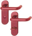 HOPPE Kurzschild-Garnitur 'Paris' Kunststoff rubinrot K138/353K - 732937