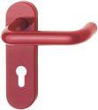 HOPPE Kurzschild-Garnitur 'Paris' Kunststoff rubinrot K138/353K - 746781