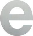 HOPPE Edelstahl-Buchstabe e matt - 8130502