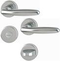 HOPPE Bad-/WC-Rosetten-Garnitur'Verona' Aluminium Stahl 1510/42KV/42KVS - 2131493
