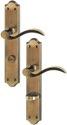 HOPPE Langschild-Garnitur 'Almeria' Messing brüniert M166SN/2700 - 2221616
