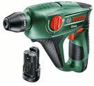 Bosch Akku-Bohrhammer Uneo, mit 2 x Akku 12 V 2,5 Ah, 90-min Ladegerät 060398400E
