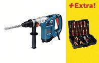 Bosch Bohrhammer mit SDS-plus GBH 4-32 DFR, mit 31-teiligem Wiha Werkzeug-Set 0615990H4L
