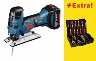 Bosch Akku-Stichsäge GST 18 V-LI S, mit 31-teiligem Wiha Werkzeug-Set 0615990H4X