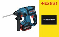 Bosch Akku-Bohrhammer GBH 18 V-EC, mit Coupon 0615990H8X