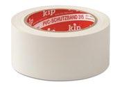 KIP 315 PVC-Schutzband – glatt, weiß 50mm x 33m (36 Rollen) - 315-55