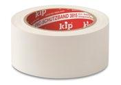 KIP 3815 PVC-Schutzband – glatt, weiß 50mm x 33m (36 Rollen) - 3815-55