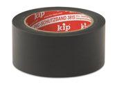 KIP 3815 PVC-Schutzband – glatt, schwarz 50mm x 33m (36 Rollen) - 3815-85