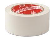 KIP 317 PVC-Schutzband – glatt, weiß 50mm x 50m (36 Rollen) - 317-55