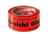 KIP 339 PP-Packband – bedruckt, Vorsicht Glas! (rot/schwarz) 50mm x 66m (36 Rollen) - 339-51