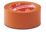 KIP 317 PVC-Schutzband – glatt, orange 30mm x 33m (60 Rollen) - 317-63