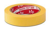 KIP 3808 WASHI-TEC® PREMIUM - gelb 24mm x 50m (36 Rollen) - 3808-24