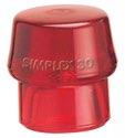 Halder Schonhammerkopf D.30mm Hart Ku.-Rot F.Simplex Lose - 3206030