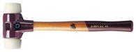 Halder Schonhammer Simplex Gesamt-L.300mm Kopf-D.30mm Hart Nylon Weiß - 3008030
