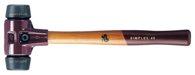 Halder Schonhammer Simplex Gesamt-L.300mm Kopf-D.30mm Mittelhart Gum. Schwarz - 3002030