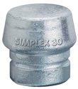 Halder Schonhammerkopf D.30mm F.Simplex Lose Weichmetall Hart Silber - 3209030