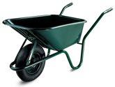 LIMEX Schubkarre 100l PP-Mulde grün mit Vollgummirad - LX55000060