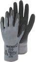 TRIUSO Black Grip - Baumwoll/PE-Handschuh mit Latex, Polybeutel, Größe 9 / L - 31009
