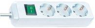 Brennenstuhl Eco-Line mit Schalter 3-fach weiß 1,5m