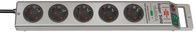 Brennenstuhl Super-Solid Überspan. 4.500A 5-fach silber