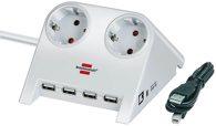 Brennenstuhl Desktop-Power-Plus USB 2-fach weiß