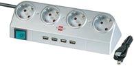 Brennenstuhl Desktop-Power Schalter und USB