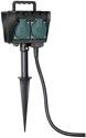 Brennenstuhl Gartensteckdose mit Erdspieß IP44 4-fach 1,4m H07RN-F 3G1,5 - 1154440