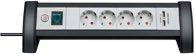 Brennenstuhl Premium-Office-Line Steckdosenleiste mit USB-Ladefunktion 4-fach schwarz/lichtgrau 1,8m H05VV-F 3G1,5 - 1156250514