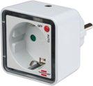 Brennenstuhl LED-Nachtlicht NL 02 ED mit Dämmerungssensor und Steckdose 2 LED 1lm Schaltfunktion Auto/aus - 1173270