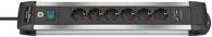 Brennenstuhl Premium-Alu-Line Steckdosenleiste mit USB-Ladefunktion 6-fach 3m H05VV-F 3G1,5 - 1391000516