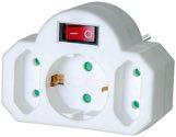 Brennenstuhl Adapterstecker Euro 2 + Schutzkontakt 1 Schalter