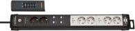 Brennenstuhl Premium-Line Funkschalt-Steckdosenleiste RC PL1 1001 6-fach schwarz/lichtgrau 3m H05VV-F 3G1,5 - 1951160609