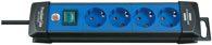 Brennenstuhl Premium-Line Steckdosenleiste 4-fach schwarz/blau 1,8m H05VV-F 3G1,5