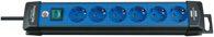 Brennenstuhl Premium-Line Steckdosenleiste 6-fach schwarz/blau 3m H05VV-F 3G1,5