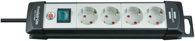 Brennenstuhl Premium-Line Steckdosenleiste 4-fach schwarz/lichtgrau 1,8m H05VV-F 3G1,5