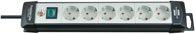 Brennenstuhl Premium-Line Steckdosenleiste 6-fach schwarz/lichtgrau 3m H05VV-F 3G1,5