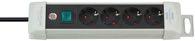 Brennenstuhl Premium-Line Steckdosenleiste 4-fach lichtgrau/schwarz 1,8m H05VV-F 3G1,5