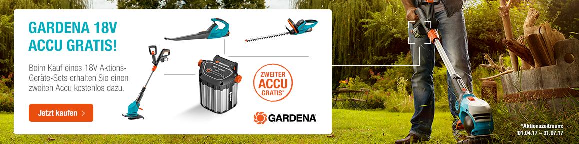 gardena 18v accu aktions set g nstig bei. Black Bedroom Furniture Sets. Home Design Ideas