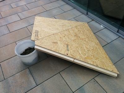 Zusammenbau des Daches