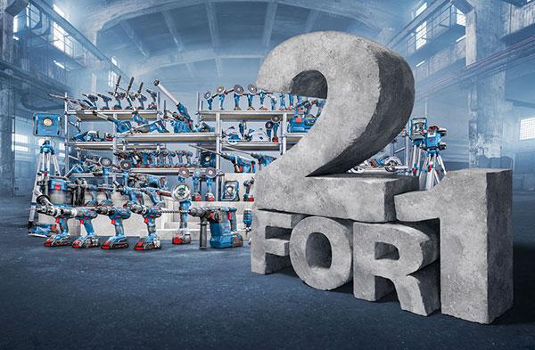 Bosch 2 for 1 - eine Maschine kaufen - zweites Produkt gratis bekommen