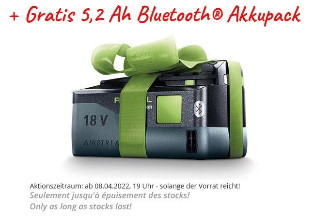 Festool 18 Volt Aktion gratis Akku Akkupack kostenlos free geschenkt