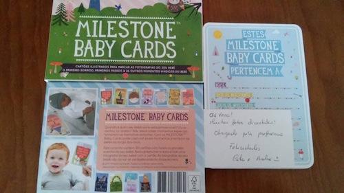 Milestone Baby Cards Testemunho Origami Kids