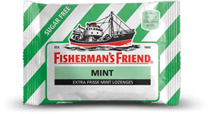 Vraag geheel gratis 3 pakjes Fisherman's Friend aan